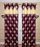 Elegance Purple Check Polyester 1 Door C...