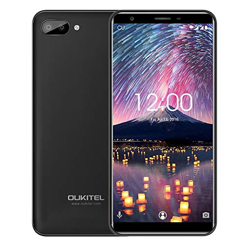 Handy Ohne Vertrag, Oukitel C11 5,5 Zoll Touch Display 1GB RAM 8GB ROM Interner Speicher, MTK6580A Quad Core, Duale hintere Kamera Dual SIM 3G Smartphone Android 8.1 Handy 2800mAh Batterie-Schwarz