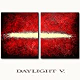 Original Acrylgemälde - DAYLIGHT V. rot - mit Goldsplitter - Unikat handgemalt abstrakte moderne zeitgenössische Kunst Bilder direkt vom Künstler Gemälde Art Malerei