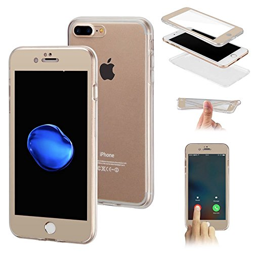 SainCat Coque Housse pour Apple iPhone 5s,Transparent Coque Silicone Etui Housse,iPhone 5 Silicone Case Soft Gel Cover Anti-Scratch Transparent Case TPU Cover,Fonction Support Protection Complète Magn Or #1