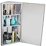 Armoire-de-toilettesalle-de-bain--miroir-murale-dangle-1-porte-2-tagres-acier-inoxydable-30L-x-184l-x-60Hcm-argent-neuf-51