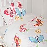 Butterfly Toddler Duvet Cover - White Bedding Set
