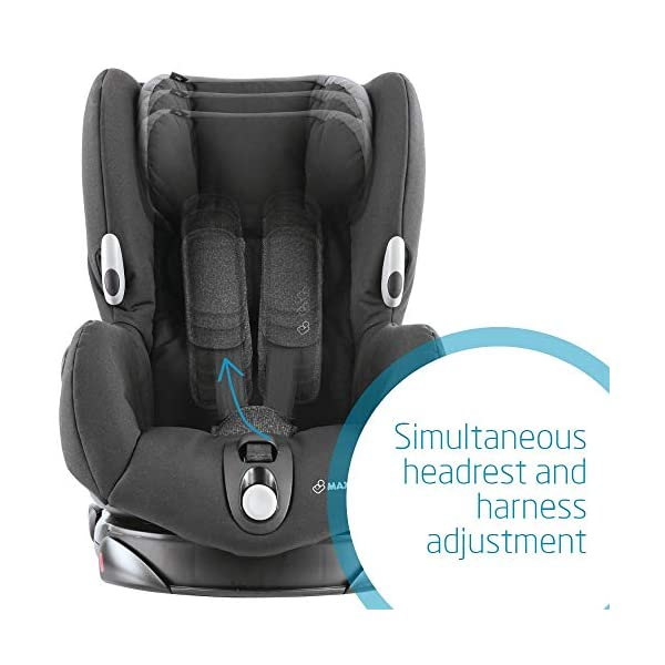Maxi-Cosi Axiss Swiveling Toddler Car Seat, Extra Secure Fit, Reclining, 9 Months-4 Years, 9-18 kg, Triangle Black Maxi-Cosi Toddler car seat, suitable from 9 months to 4 years (9-18 kg) Swivels 90 degrees allows for front-on access to get your toddler in and out of the car more easily Maxi-Cosi Axiss car seat has eight comfortable recline positions 5