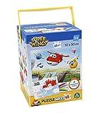 Giochi Preziosi Super Wings Puzzle avec marqueurs, 48Pièces