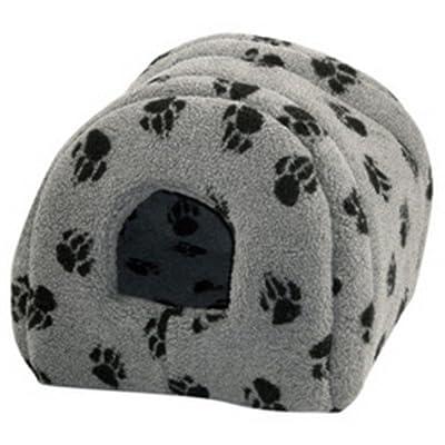 Danish Design Pet Products - Cama iglú con estampado de zarpas para gatos