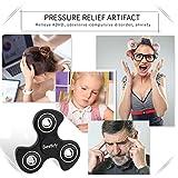 Bestidy Fidget Spinner Tri Focus Spielzeug Stress Reducer High Speed lindert ADHS Angst und Langeweile (Black) -