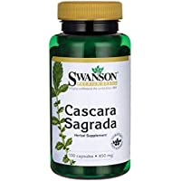 Swanson - Cascara Sagrada 450mg, 100 Kapseln - Abführmittel - Reines Getrocknete Rinde - Darmreinigung & Detox... preisvergleich bei billige-tabletten.eu