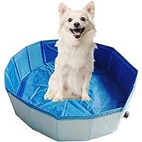 Decdeal Premium Piscina per Cani Pieghevole Multifunzionale, PVC Antiscivolo - Perfetto per Gli Animali Domestici…