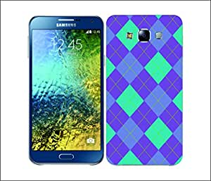 Galaxy Printed 1809 Argyle Purple and Blue Hard Cover for Samsung A3