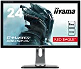 iiyama G-Master Red Eagle GB2488HSU-B3 61cm (24 Zoll) LED-Monitor Full-HD (144Hz, DVI-D, 2xHDMI, DisplayPort, USB3.0, 1ms Reaktionszeit, FreeSync, Höhenverstellbar, Pivot) Schwarz