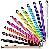 Eingabestift,PROKING 12 Stück Kapazitive Stylus und Kugelschreiber 2 in 1 Stylus für Touch Screens Geräte, Stylus Stifte