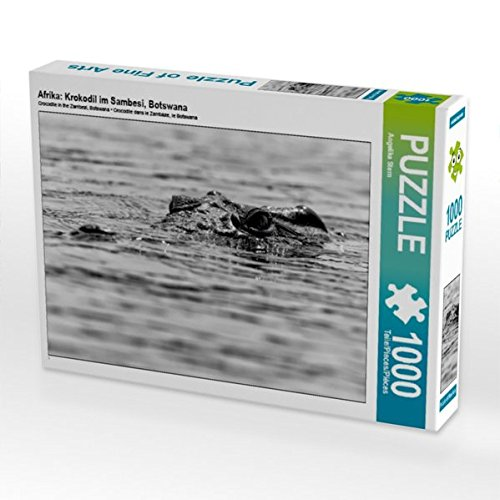 Preisvergleich Produktbild Afrika: Krokodil im Sambesi,  Botswana 1000 Teile Puzzle quer