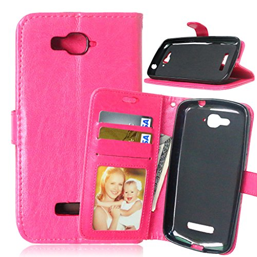Funda para One Touch Pop C7 - [Cable Libre] FUBAODA Funda Cuero PU Billetera Folio...