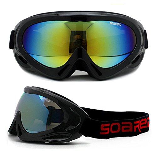 Swamp Paese occhiali da sci bambini antinebbia antivento Snow Goggles UV Protection occhiali da neve, nero