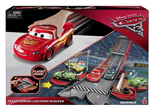 Image of Disney Cars FCW04 Cars 3 Transforming Lightning McQueen Playset