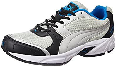 Puma Men's Argus DP Puma Black, Puma Silver and French Running Shoes - 10 UK/India (44.5 EU) (18837710)