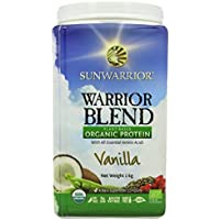Sunwarrior Warrior Blend Plant Based Raw Vegan Protein Powder, Vanilla, 1kg