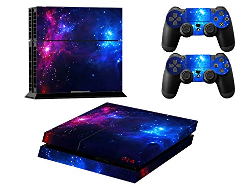 Ps4 Playstation 4 Consola Design Foils Skin Sticker Decal Pegatinas + 2 Controlador Skins Set (double