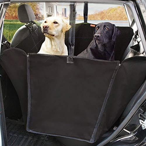 Copertura per seggiolino auto per animali, resistente all'acqua e antigraffio e antiscivolo per cani, adatta per auto e camion e cuscino per sedile posteriore SUV (multi-colore opzionale),Black