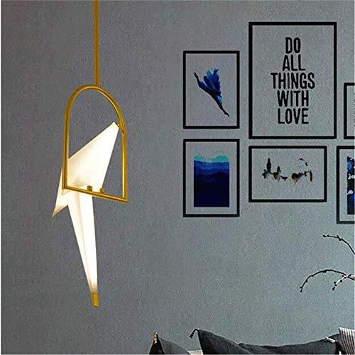 xiadsk licht, Lampe, Laterne Postmoderne Kreative 8 Watt 110 V 220 V Nordic Einzel Origami Kran Vogel Moderne Pendelleuchten Wohnzimmer Foyer LED Wandleuchte (Licht Foyer Laterne 8)