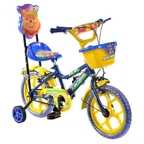 Outdoor Bikes Blue Yellow 14 Inches Bicycle For Kids 3...