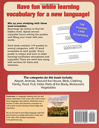Parleremo Languages Word Scramble Puzzles Hungarian - Volume 4