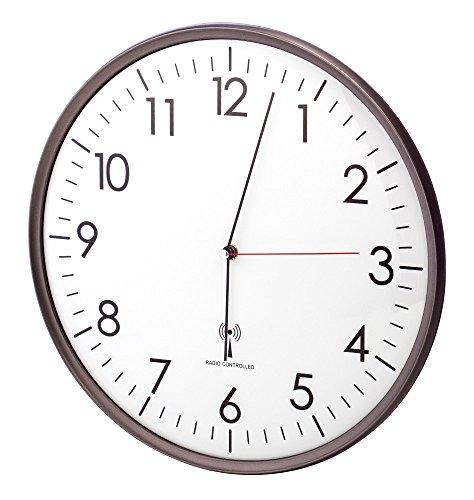 Radio orologio da parete Funchal TFA 60.3516.10, antracite, 330 mm, con meccanismo silenzioso