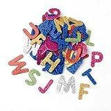 GLOREX Moosgummi Set Buchstaben Glitzer, Mehreres, Mehrfarbig, 18 x 11.6 x 1 cm