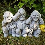 Originelle Steinfigur mit Humor Karl Marx, Engels, Lenin deutsche Geschichte Nostalgie DDR Ost-Produkte Deko Wohnzimmer Garten Balkon Terassen Gartenfigur