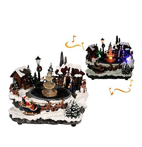Weihnachtsdorf mit Beleuchtung mit Musik