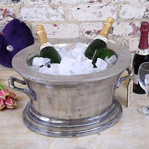 Nanda Devi Champagner Eis Bade Aluminium Abguss Vintage Abgenutzt Finish Wein Kühler Eimer -