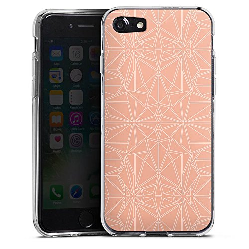 Apple iPhone X Silikon Hülle Case Schutzhülle Muster Pfirsich Ornament Silikon Case transparent