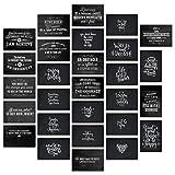 """Inspirerande och motiverande vykort i Retro"""" svarta tavla/Blackboard Style"""" uppsättning med 28 vykort. 28 olika motiverande och inspirerande citat"""