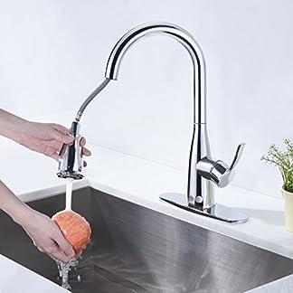 fandaucy 360° giratorio grifo cocina grifo grifo mischbattrie con ducha extraíble fregadero grifo para