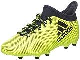 adidas Jungen X 17.3 Fg J Fußballschuhe, Weiß, Mehrfarbig (Solar Yellow/legend Ink F17/legend Ink F17), 38 2/3 EU