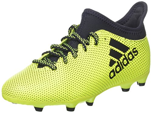 adidas Unisex Kids' X 17.3 Fg Footbal Shoes, Multicolor (Solar Yellow/Legend Ink...