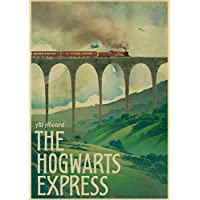 prbll New vintage posters, Harry Potter Hogwarts Express Diagonal Lane Hogsmolder and other film sandals, movie posters, home decoration posters 42x30 D54