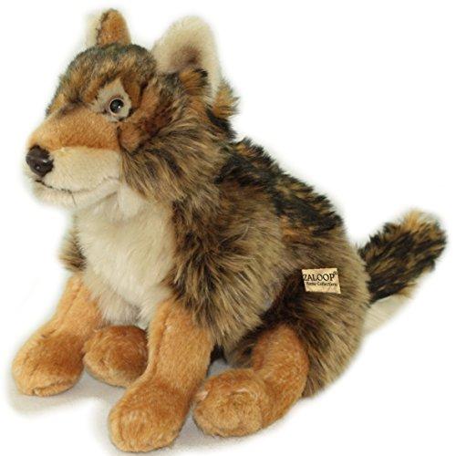 Wolf Dunkel ca.27 cm Plüschwolf Plüschtier Kuscheltier Stofftier 5 von Zaloop