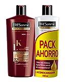 TRESemmé Pack avec shampooing et revitalisant Kératine lisse - 2 emballages de 2 bouteilles - Total: 4 bouteilles (2,2 l)