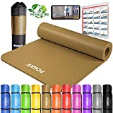 POWRX Gymnastikmatte Yogamatte Premium inkl. Trageband + Tasche + Übungsposter GRATIS I...
