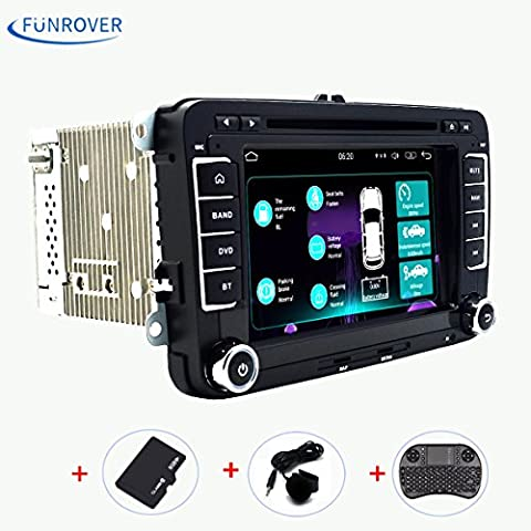 2 Din Autoradio Moniceiver DVD Player FUNROVER Android 5.1 Auto