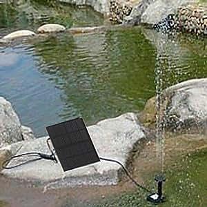 TY solaire pompe à eau étang de cycle fontaine de rocaille fontaine