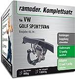 Rameder Komplettsatz, Anhängerkupplung schwenkbar + 13pol Elektrik für VW Golf SPORTSVAN (150665-11878-1)