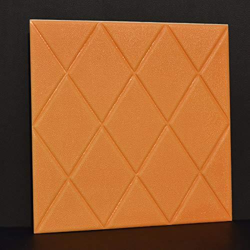 Diamant-sofa-satz (3D-Diamant-Effekt-Tapete - Weiche Wandaufkleber Selbstklebende Pe-Schaum Für Wohnzimmer Schlafzimmer Home-Office-Dekoration (4 Stücke) 60 * 60 Cm Hellgelb)