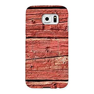 Special Pale Red Print Back Case Cover for Samsung Galaxy S6