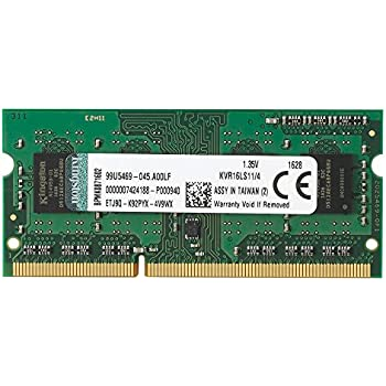 Kingston KVR16LS11/4 - Memoria RAM de 4GB (DDR3L Non-ECC 1600 MHz, FBGA SODIMM 204-pin, 1.35 V CL11)
