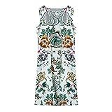 CISULI 100% Seide Damen Kleider Pure Seide Sommerkleid Plusgröße M-3XL (01, XL)