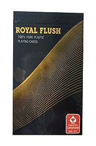 Parksons Royal Flush Playing Cards, Black