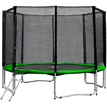 terena trampolin neongr n 183 244 305 366 427cm mit netz sicherheitsnetz gartentrampolin f r. Black Bedroom Furniture Sets. Home Design Ideas