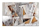 Triángulos Pintura abstrato realizada a mano y montada sobre bastidor grueso